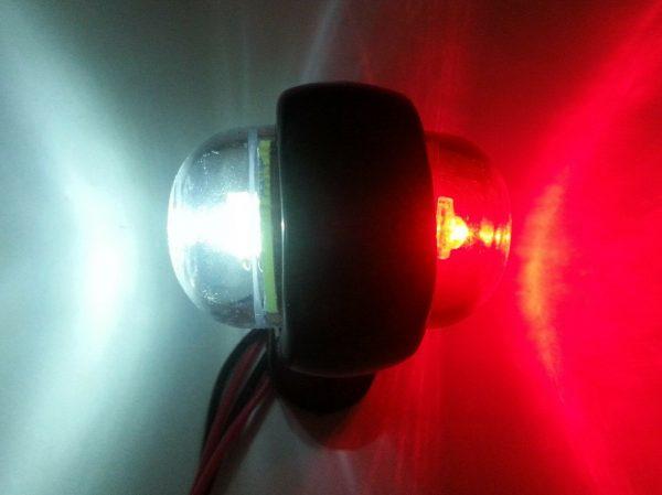 Mini Side Marker LED Rubber Trailer Lights 12v