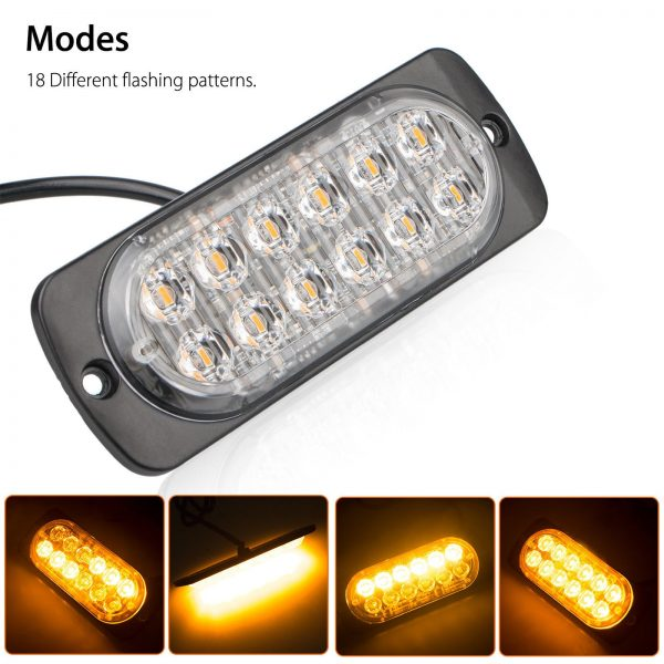 12 LED Grill Strobe Amber colour for al vehicles