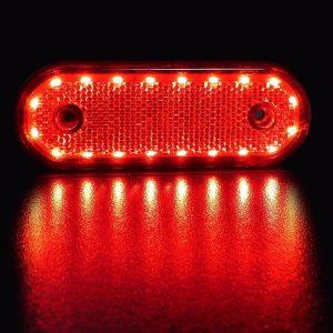 22 LED Red Oval Marker Light Position in 12v and 24v