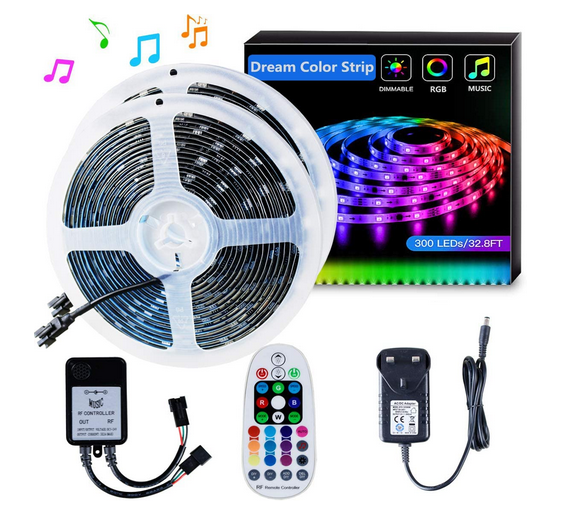 10m LED Strip Smart RGBIC Magic Colour Sets for Kitchen, Bedrooms, Stairs etc
