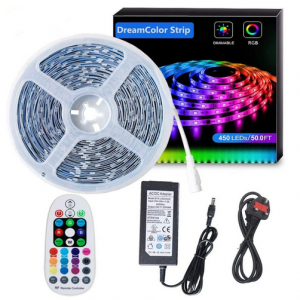 15m LED Strip Smart RGBIC Magic Colour Sets for the Bedroom, Kitchen, Sitting Room, Stairs etc
