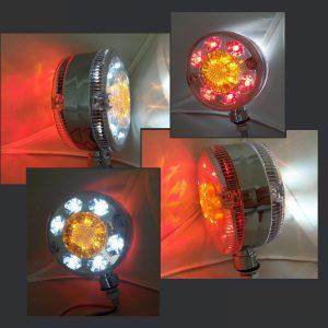 Chrome Lollipop LED Marker Light 24v