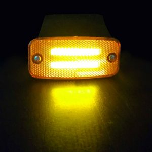 NEON Side Marker LED Lights 12-24v Amber for trucks tractors vans trailers